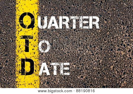 Business Acronym Qtd - Quarter To Date