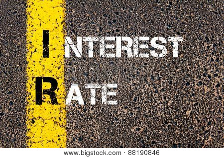 Business Acronym Ir - Interest Rate