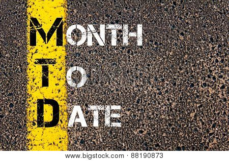 Business Acronym Mtd - Month To Date