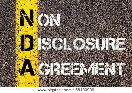 Business Acronym Nda - Non-disclosure Agreement