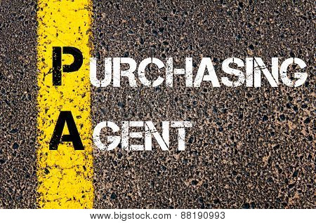 Business Acronym Pa - Purchasing Agent