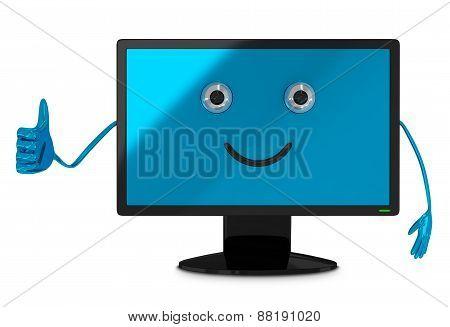 Computer Monitor Character