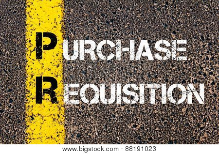 Business Acronym Pr - Purchase Requisition