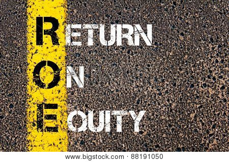 Business Acronym Roe - Return On Equity