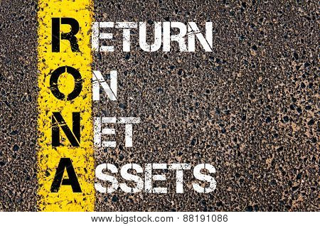 Business Acronym Rona - Return On Net Assets