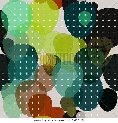 Decorative abstract pattern background with crosses.