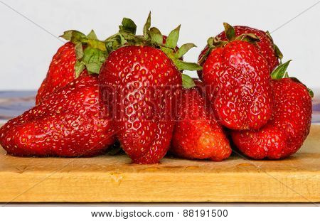 Ripe Large Strawberries