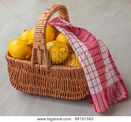 Basket With Lemons