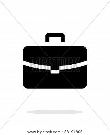 Handbag simple icon on white background.