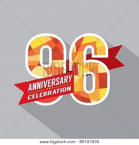 96Th Years Anniversary Celebration Design.