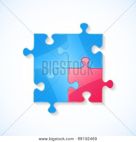 Blue And Red Puzzle