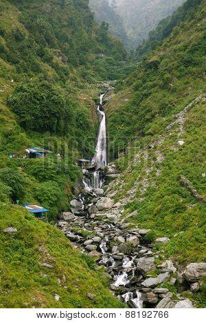 Bhagsu Waterfall, Dharamsala, India.