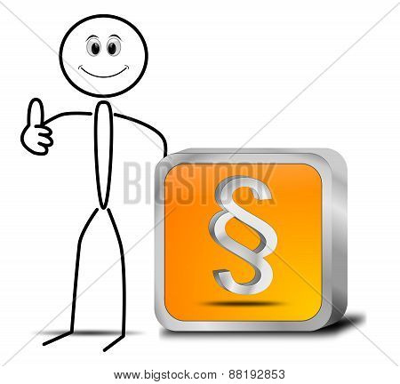 Stickman with Law paragraph button