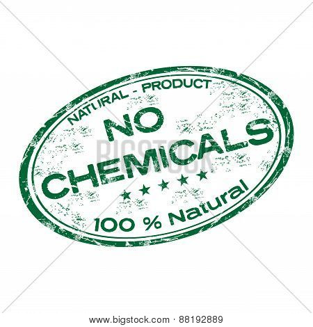 No chemicals grunge rubber stamp
