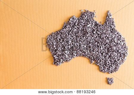 Conceptual Map Of Australia Formed Of Small Stones