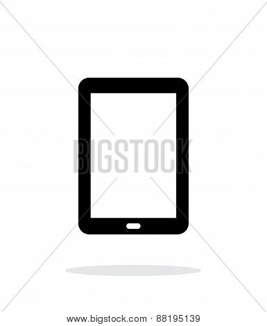 Tablet PC screen simple icon on white background.
