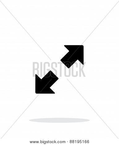 Fullscreen simple icon on white background.