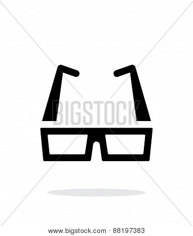 Modern glasses simple icon on white background.