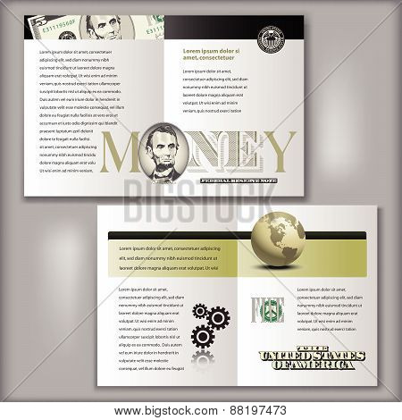 5 Dollar Bill Brochure Template