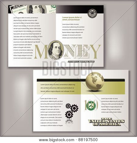 100 Dollar Bill Brochure Template