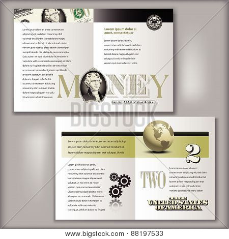 2 Dollar Bill Brochure Template