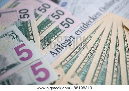 Dollar banknotes