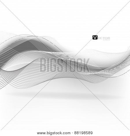 Abstract Waves - Data Stream Concept. Vector