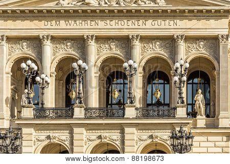 Facade Of Frankfurts Alte Oper