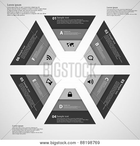 Hexagon Consist Of Three Dark Ribbons
