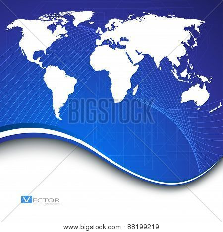 Abstract Bussines Background. Vector Illustration