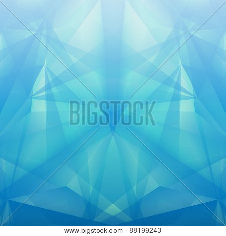 Abstract Geometrical Blue Background. Vector Illustration
