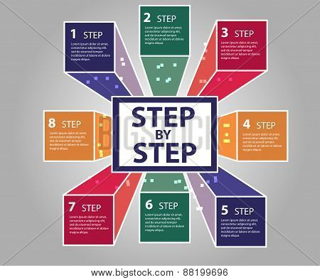 Modern business steps to success  options banner.