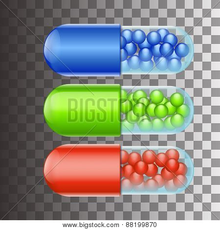 three pills