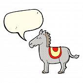 image of donkey  - cartoon donkey with speech bubble - JPG