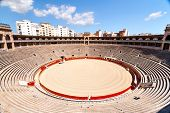 picture of arena  - Internal view of the bullring in Mallorca - JPG