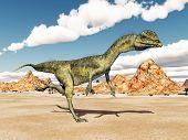 picture of dilophosaurus  - Computer generated 3D illustration with the Dinosaur Dilophosaurus - JPG