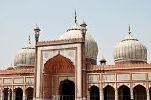 picture of masjid  - View at Jama Masjid of Delhi India - JPG