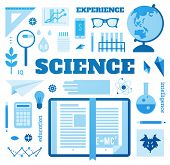 picture of science  - Set open book about science - JPG