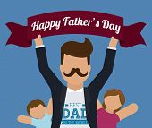 stock photo of special day  - Happy fathers day card design - JPG