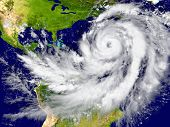 picture of typhoon  - Enormous hurricane over the Atlantic - JPG