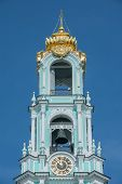 image of trinity  - Part of Bell tower in Trinity Sergius Lavra in Sergiev Posad - JPG
