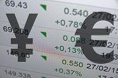 picture of yen  - Japanese yen versus Euro - JPG