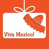 pic of sombrero  - Sombrero cut out tag card in vector format - JPG