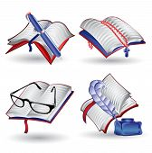 pic of holy-bible  - set web icons book holy bible note - JPG