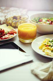 pic of continental food  - Fresh breakfast food - JPG