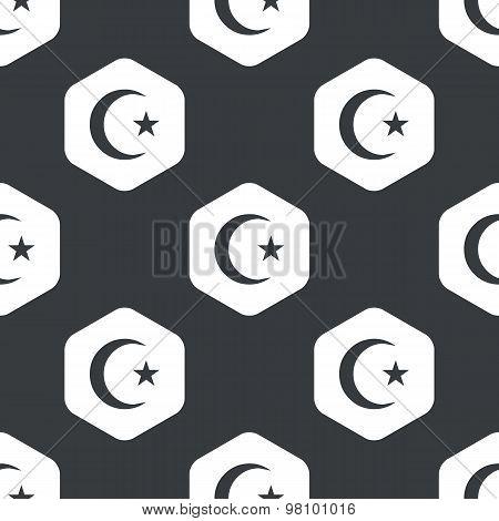 Black hexagon Turkey symbol pattern