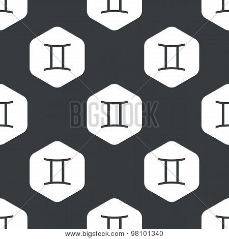 Black hexagon Gemini pattern