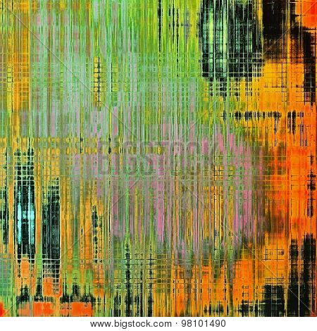 Abstract distressed grunge background. With different color patterns: yellow (beige); red (orange); green; black; pink