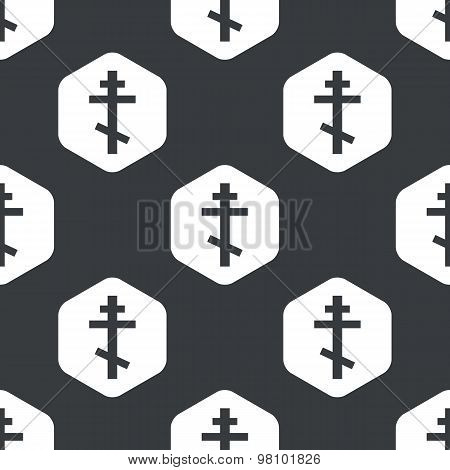Black hexagon orthodox cross pattern