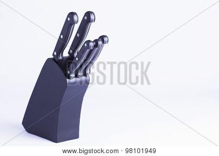 Black Knifeblock Isolated On White
